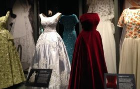 A few of the Queen's beautiful evening gowns which star in the Fashioning A Reign exhibition at Holyroodhouse.
