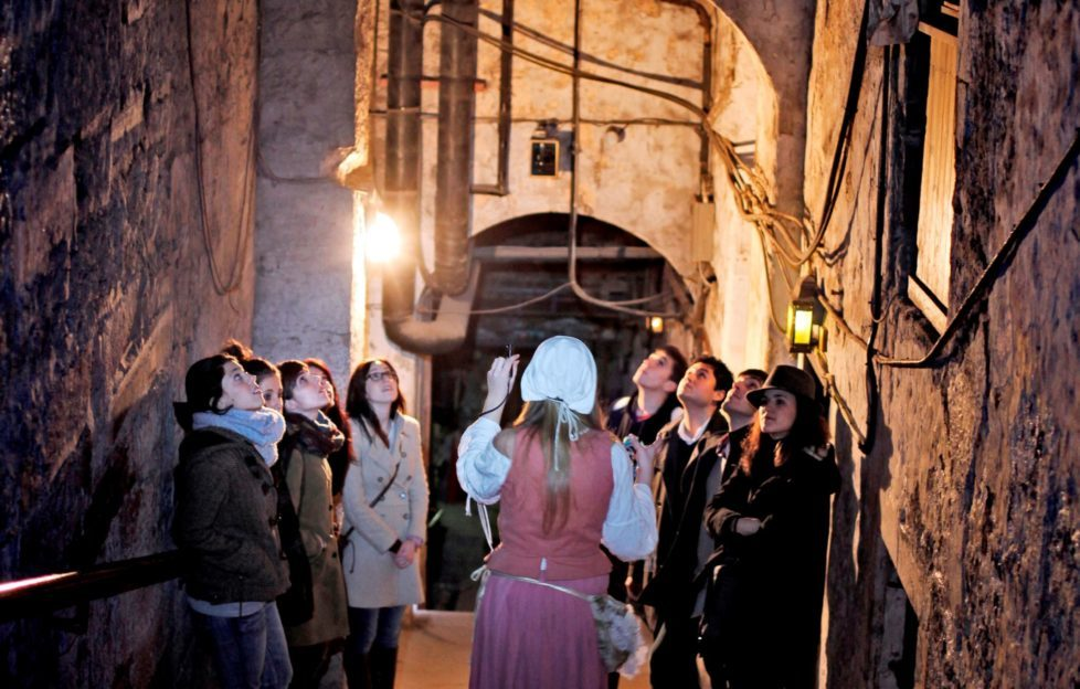 Hear tales of Edinburgh's history from costumed actors. Photo courtesy of The Real Mary King's Close