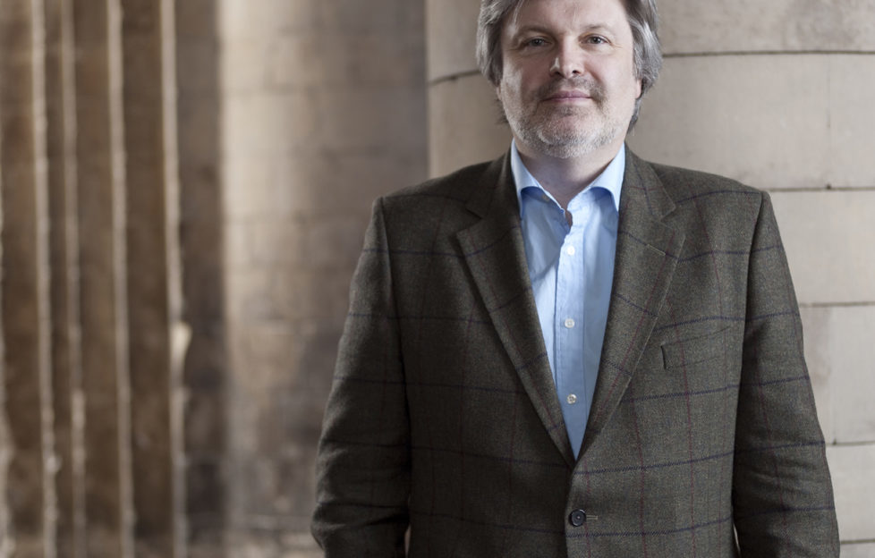 Sir James MacMillan appearing at St Mungo's Museum. Pic: Philip Gatward