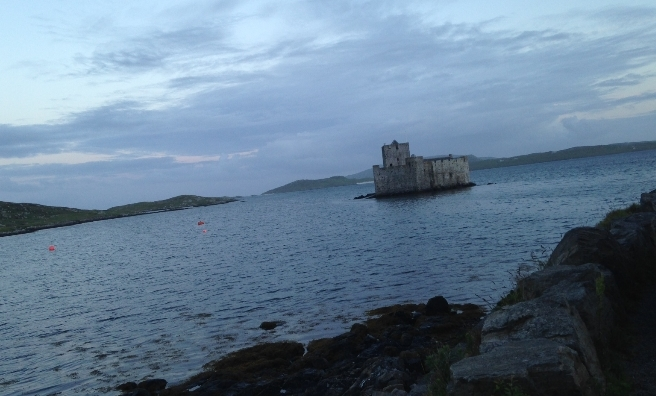 Castle Kisimul, built on a tiny island in Castlebay Bay