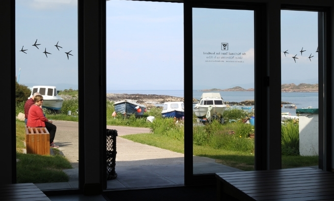 Looking out from the new NTS Visitor Shelter on Iona. Pic by Tom Finnie