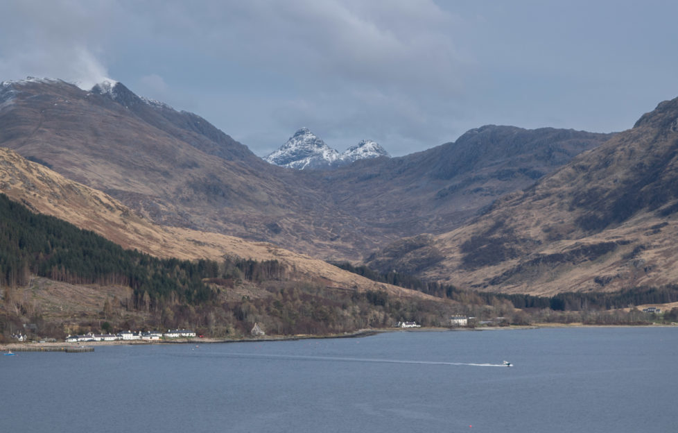 Looking back on Inverie from the Ferry