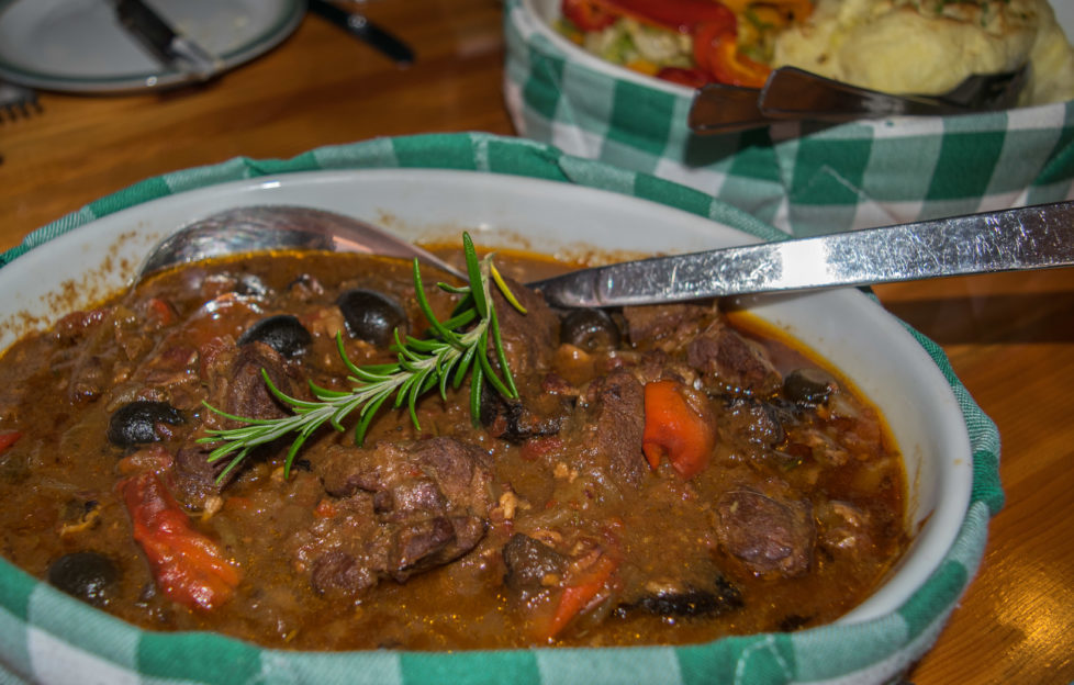 Venison Stew at Doune - yum!