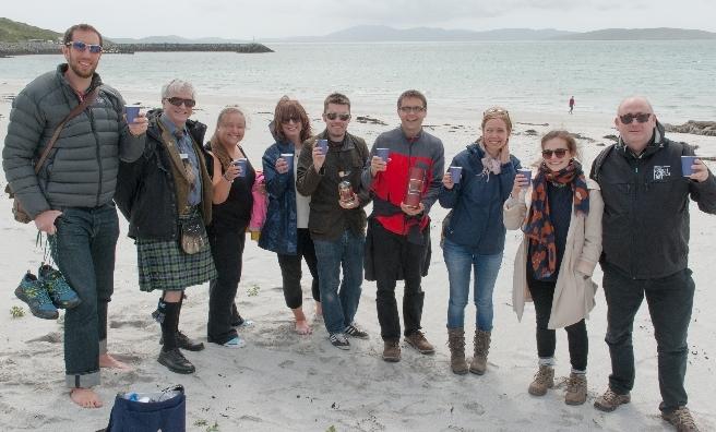 A wee dram on Bonnie Prince Charlie's Beach