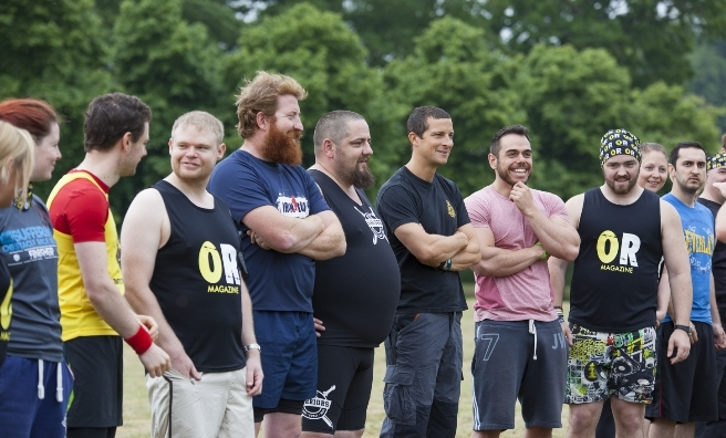 Bear Grylls and a few of his fellow Survival Race competitors