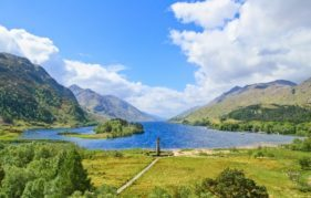 The Glenfinnan Monument in all its glory. Photo Shuttershock