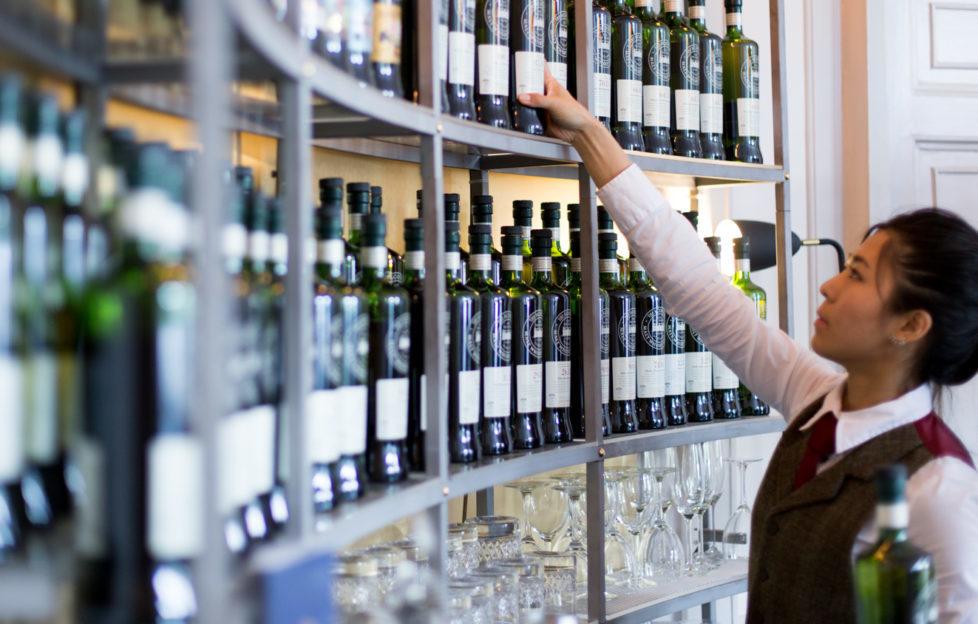 Kaleidoscope Whisky Bar has a rather extensive selection...