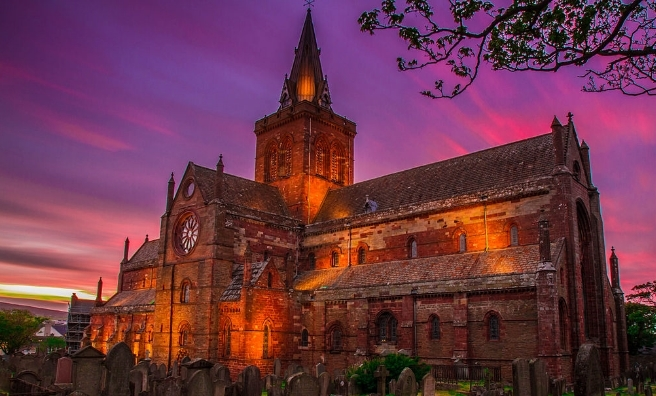 The atmospheric St Magnus Cathedral, Orkney