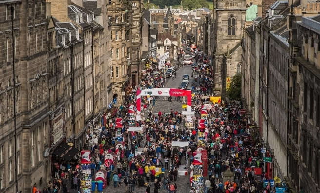 The Royal Mile's the place to be during the Edinburgh Festivals