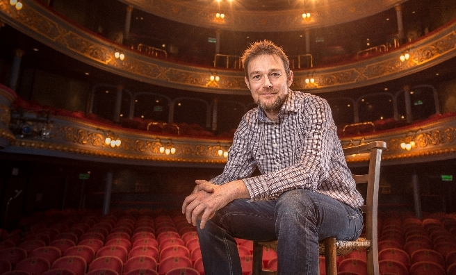 Artistic Director David Greig in The Lyceum. Photo by Aly Wight