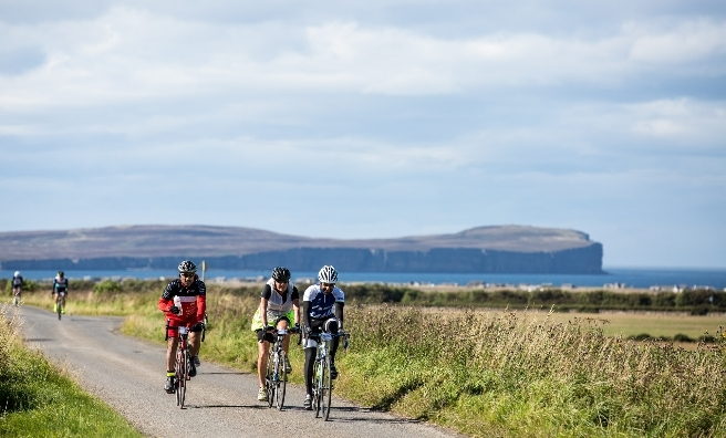 Cyclists on the final leg of last year's Deloitte Ride Across Britain