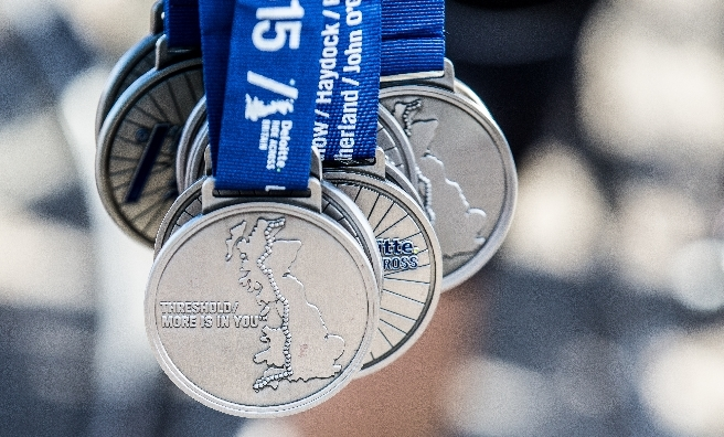 Finisher's Medals for the Deloitte Ride Across Britain