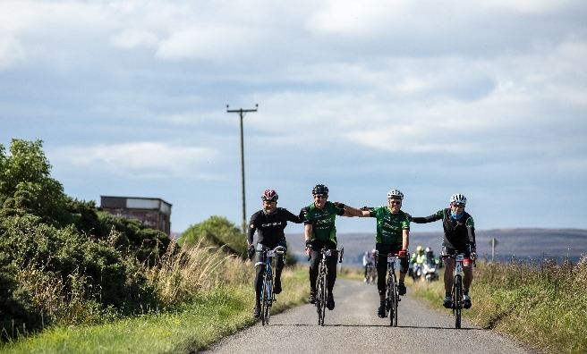 Team spirit on the Deloitte Ride Across Britain