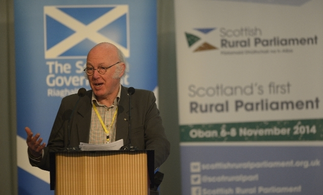 John Hutchison, the 2014 chair of the Scottish Rural Parliament opens the 2014 event