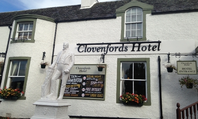 The Clovenfords Hotel, start and finish of our walk along the Meigle Circular