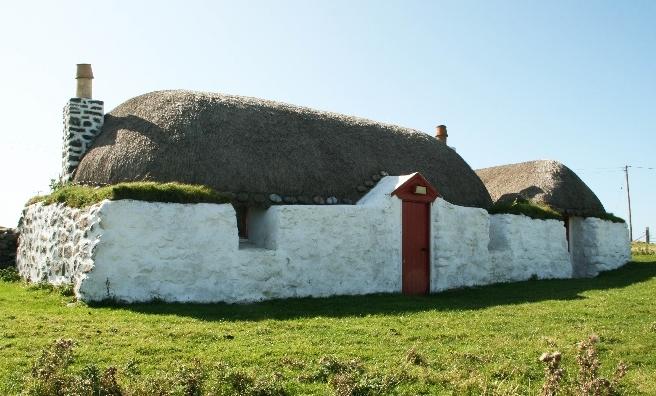 Balevullin Cottage on the Isle of Tiree. Copyright @ Historic Environment Scotland