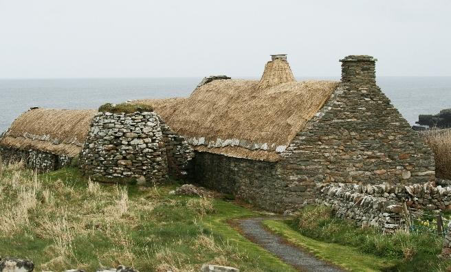An abandoned crofthouse on Shetland. Copyright @ Historic Environment Scotland