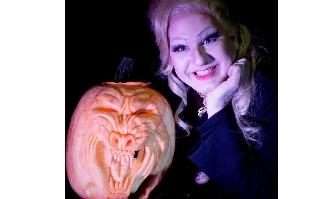 TV's fiendishly funny horror host, Bunny Galore, will be co-hosting Edinburgh's Hallowe'en Ceilidh