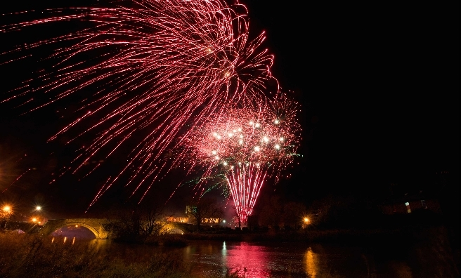 The Saltire Festival's fireworks light up the East Lothian sky. Photo by Rob McDougall