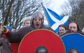 Historical re-enactments will tell Scotland's story during The Saltire Festival 2016. Photo by ROB MCDOUGALL