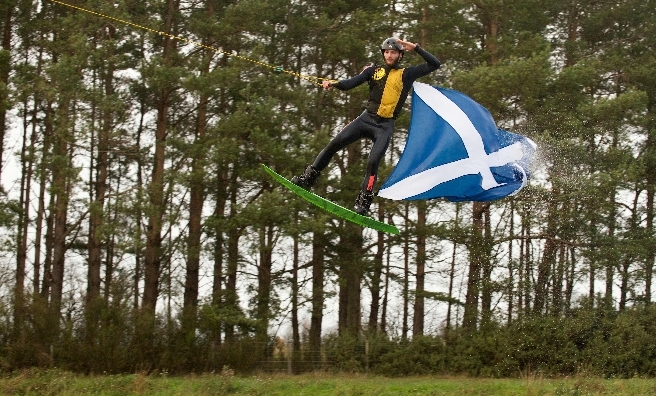 Flying the flag at The Saltire Festival. Photo by ROB MCDOUGALL