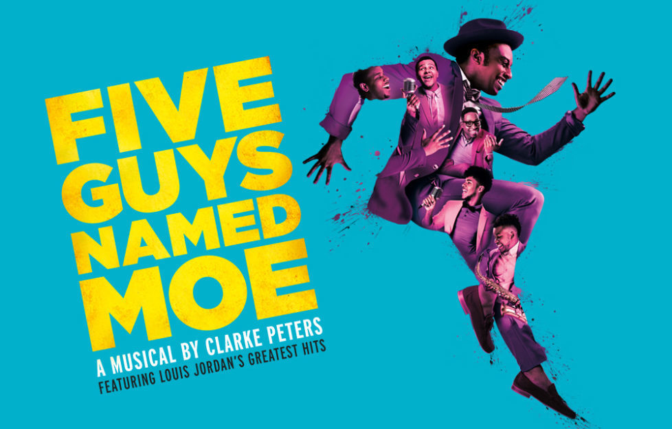 The poster for Five Guys Named Moe