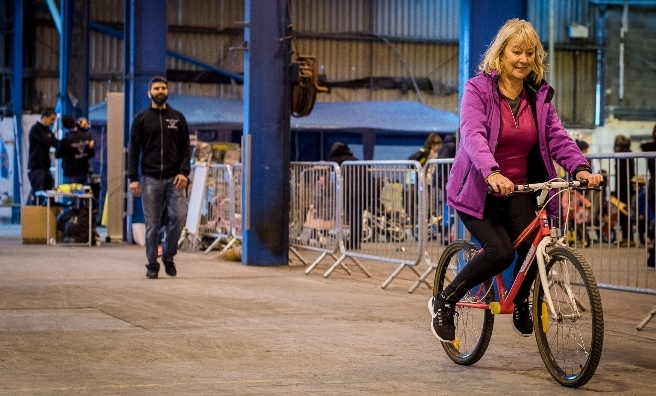 A Learn To Ride A Bike event in Glasgow. Photo by Andy Catlin