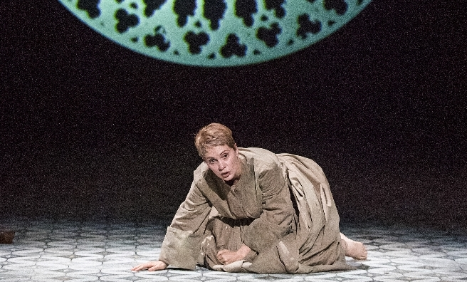 Anne Sophie Duprels as Sister Angelica in a scene fromSuor Angelica by Opera North. ©Tristram Kenton