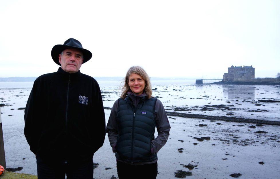 Keith Geddes, Chair of CSGNT, and Elaine MacIntosh, John Muir Way Development Officer.