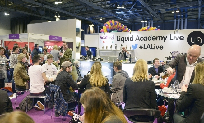 Trying out the latest drinks innovations at Liquid Academy Live, a very pooular part of ScotHot.