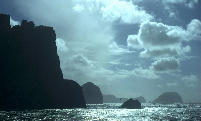 Darkness falls over St Kilda. Pic courtesy of NTS