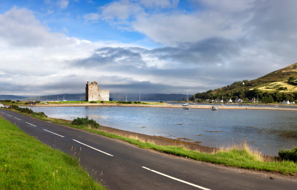 Panoramic view of Lochranza bay and castle. Pic: Istockphoto