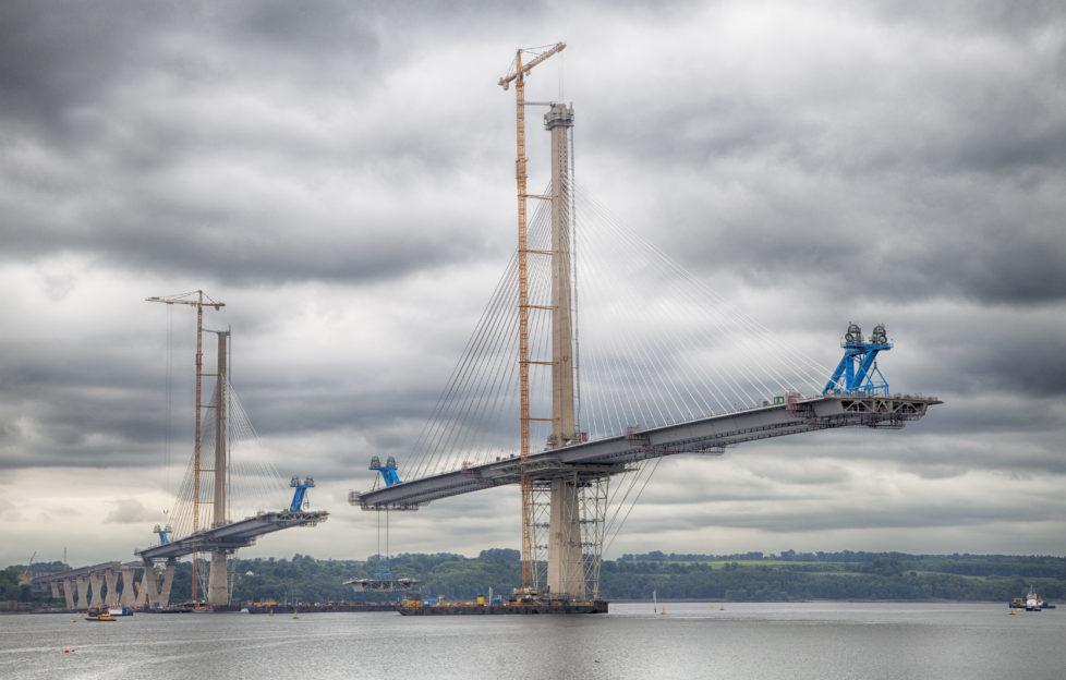 The new Queensferry Crossing bridge taking shape! Pic: iStock