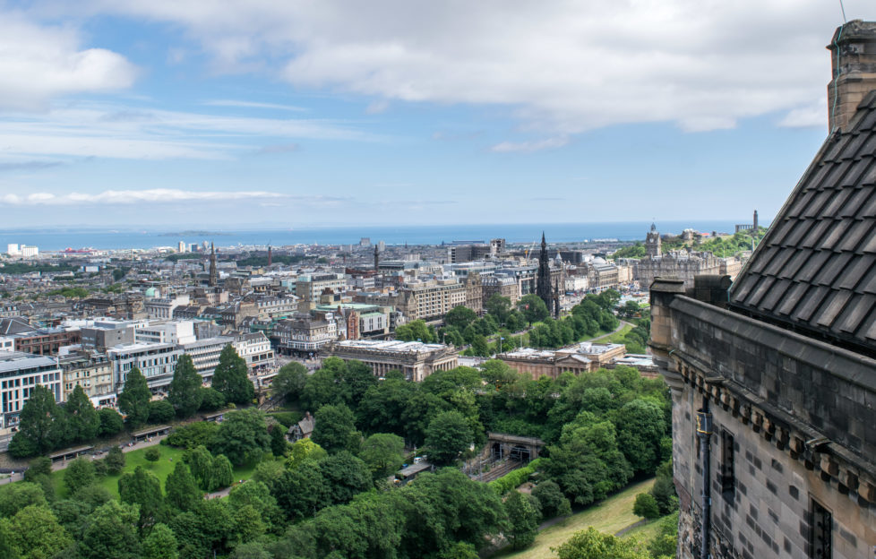 The view from Edinburgh Castle. PIc: Kay Gillespie