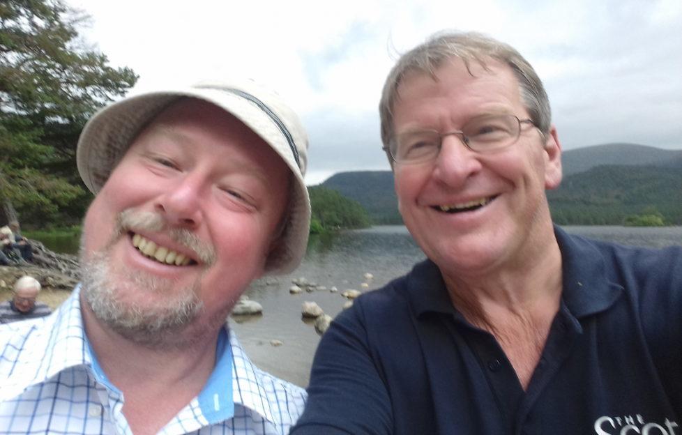 Hike experts Nick Drainey and Garry Fraser enjoying the sunshine