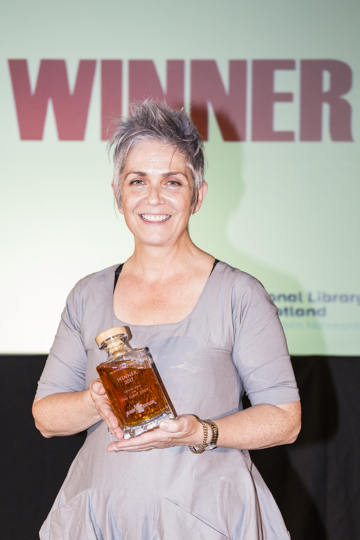 Denise Mina, winner of the Mcilvanney Prize, at Bloody Scotland. Pic: Paul Reich