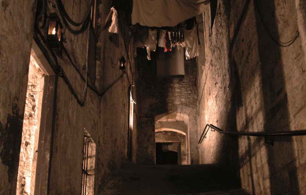 The hidden close beneath Edinburgh City Chambers.