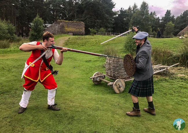 Neil gets hands-on at the Highland Folk Museum! PIc: Neil Robertson