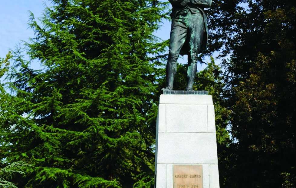 Robert Burns Memorial in Stanley Park, Vancouver, Canada. Pic: Alamy