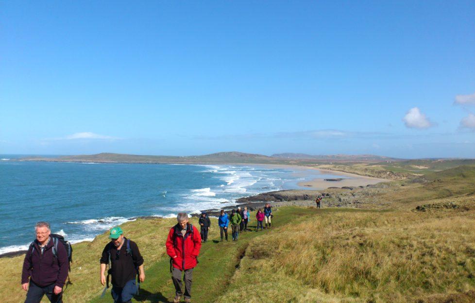 Last year's group tackling Walk Islay. Credit: WalkIslay.com