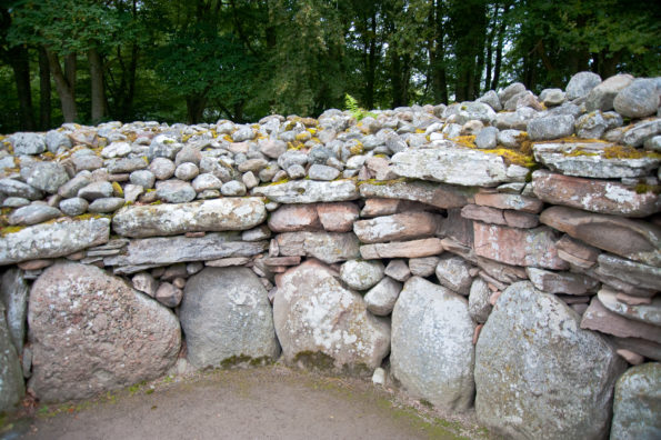 4,000 year old brickwork of The Cairns of Bulnuaran of Clava. Pic credit: Shutterstock.
