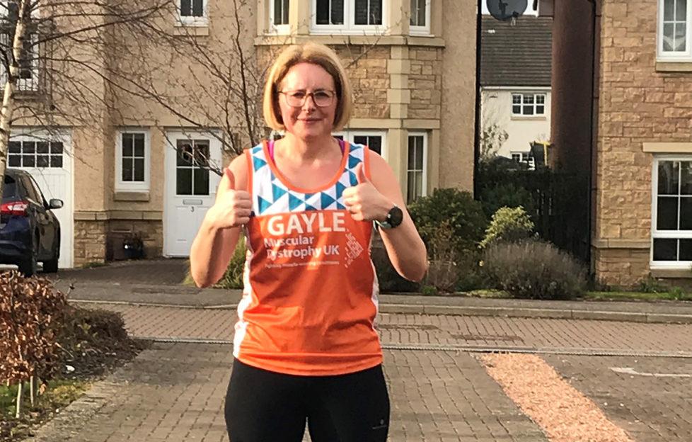 Gayle ran a marathon in her driveway