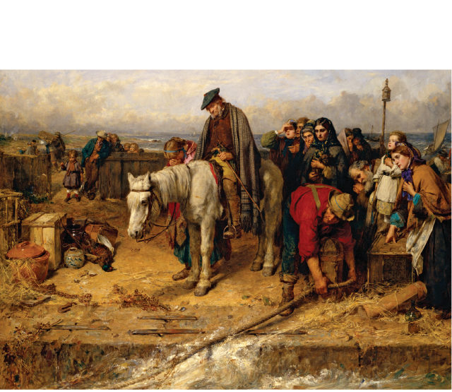 The Last Of The Clan, painted in 1865 by Thomas Faed.
