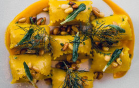 Roasted Pumpkin and Ricotta Agnolotti