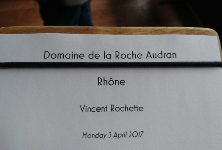 Roche Audran wine tasting