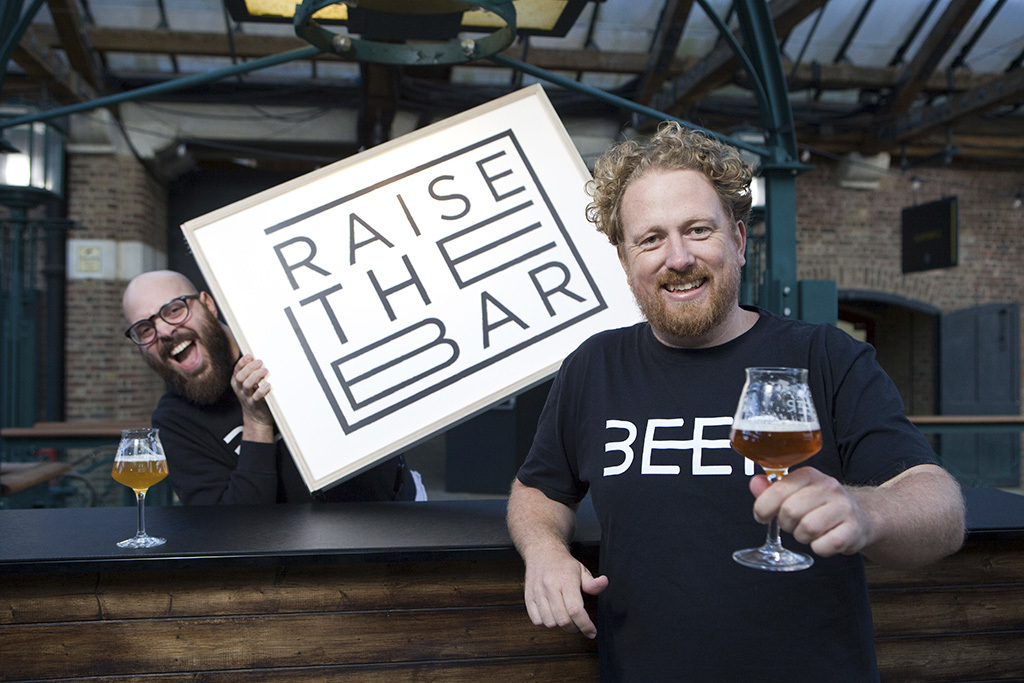 L-R Dan Sylvester and Greg Wells, co-founders of We Are Beer