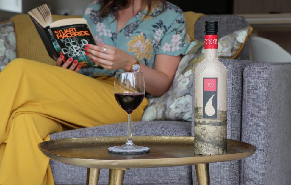 Cardboard wine bottle