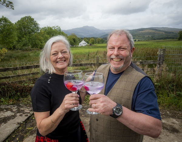 Dale and Vicky McQueen with their gin