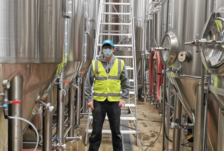 Cold Town Beer head brewer Ed Evans
