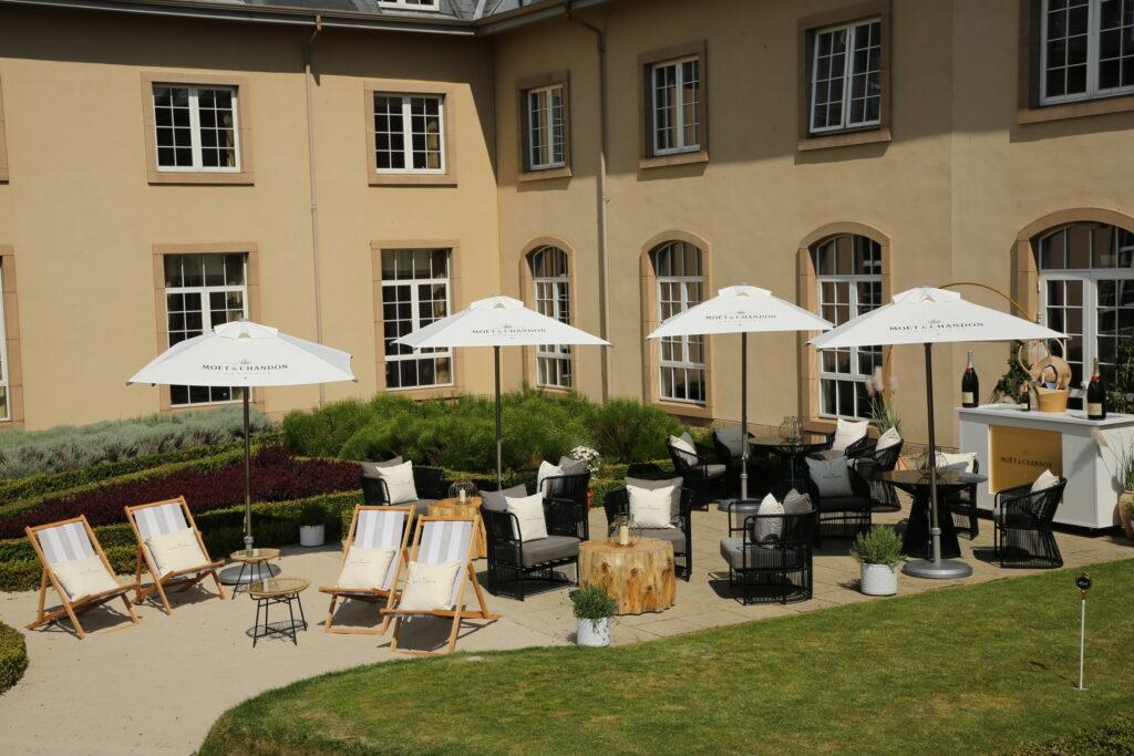 Moet cocktail terrace at Fairmont St Andrews